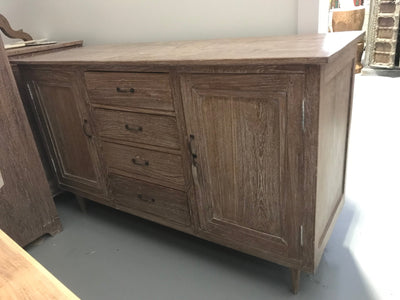 Wooden Sideboard with Four Drawers and Two Doors