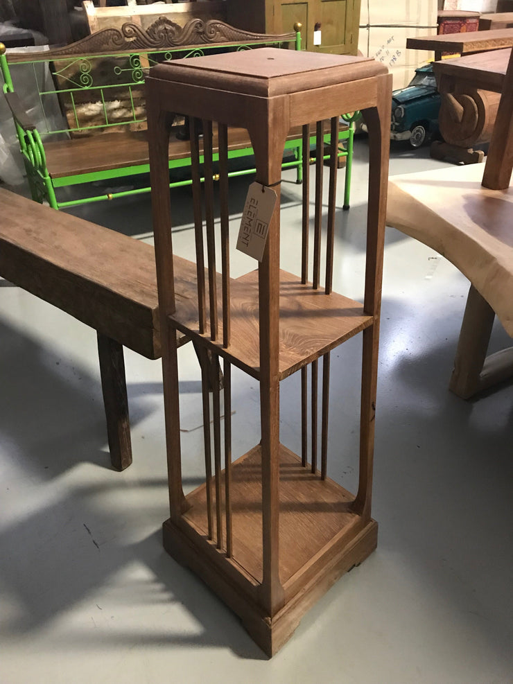 Wooden Stand with Two Shelves