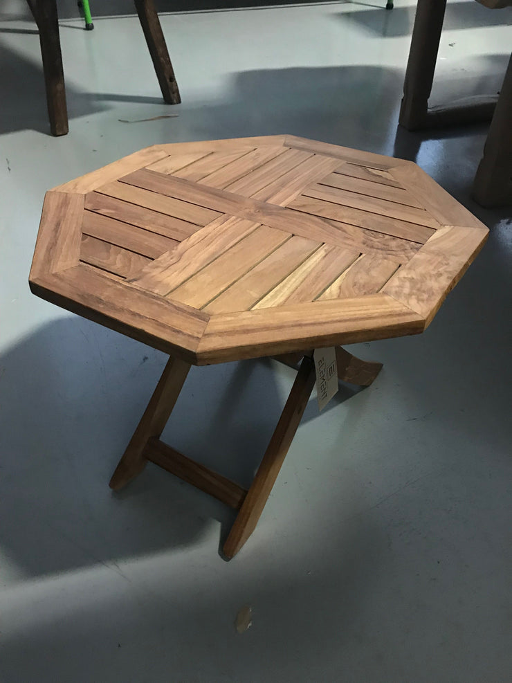 Octagonal Small Wooden Side Table