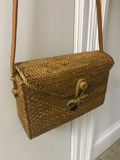 Large Natural Fiber Woven Bag