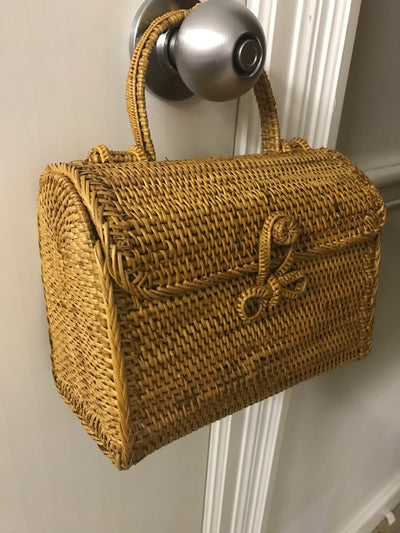 Natural Fiber Woven Hand Bag