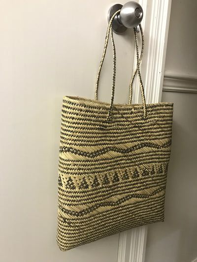 Rectangular Natural Rattan Fiber Woven Bag