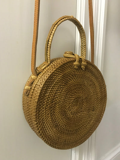 Natural Fiber Woven Bag with Double Handles