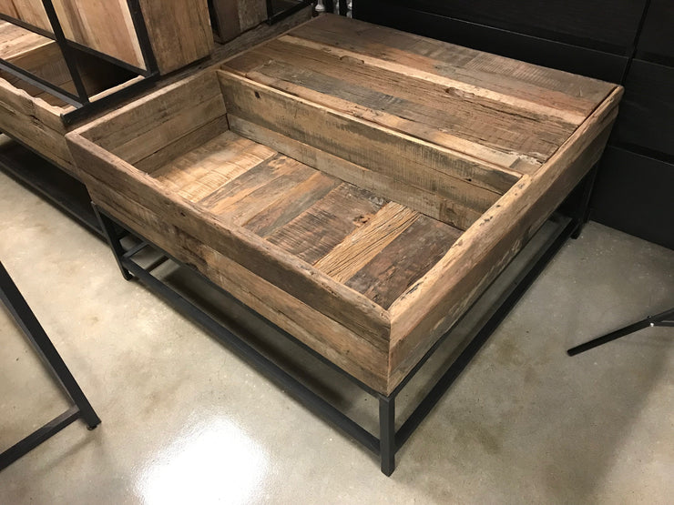 Wooden Coffee Table with Planter