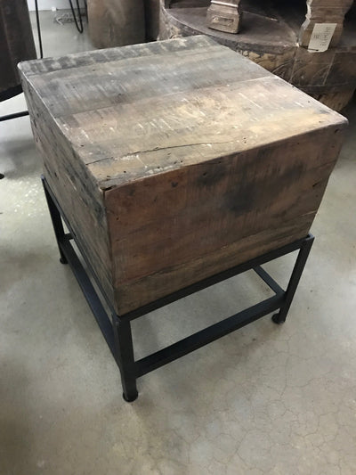 Small Wooden Box Side Table