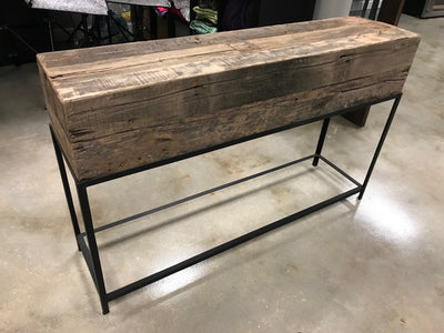 Wooden Box Console Table
