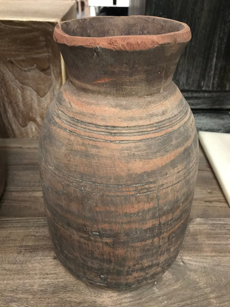 Light Colored Wooden Pot