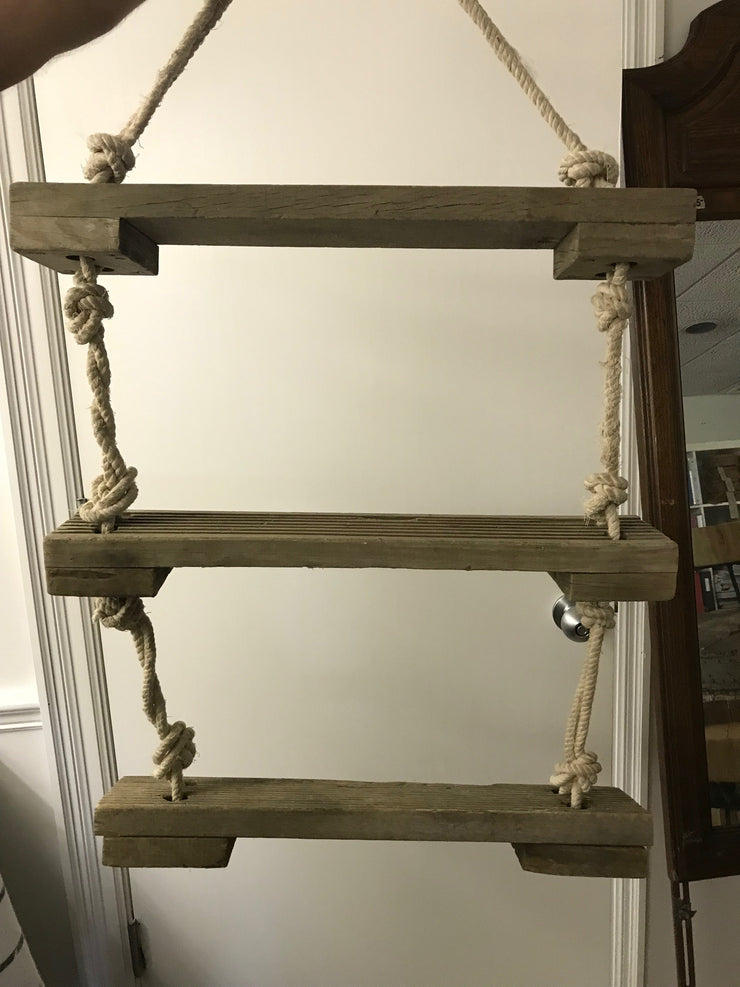 Wooden Shelves with Rope