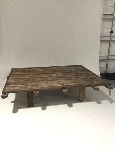 Camel Cart Wooden Coffee Table
