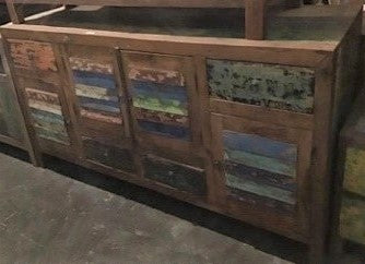 Buffed Colorful Cabinet (4 doors, 4 drawers)