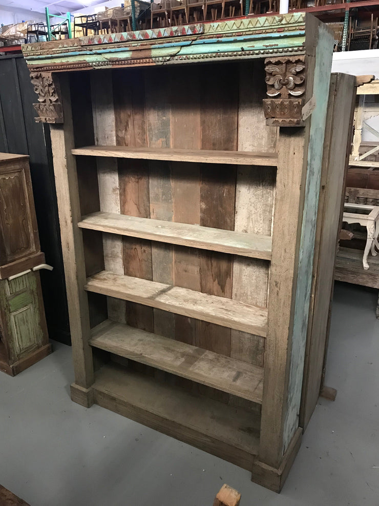Wooden Bookcase with Five Shelves