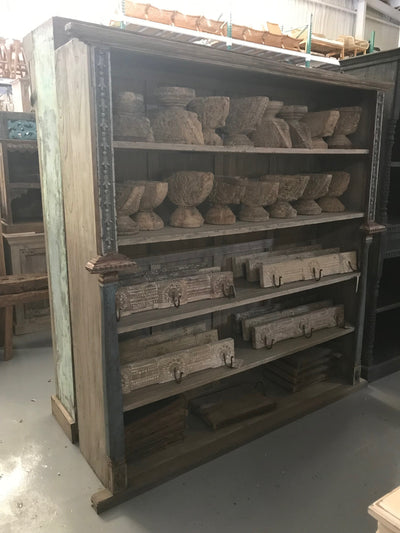 Large Wooden Bookcase with Five Shelves