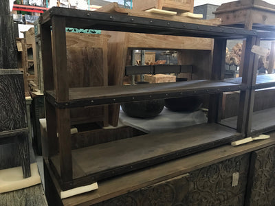 Wooden Console Table with Two Shelves