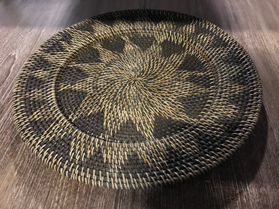 Natural Fiber Woven Plate - Small Size from Three Piece Set