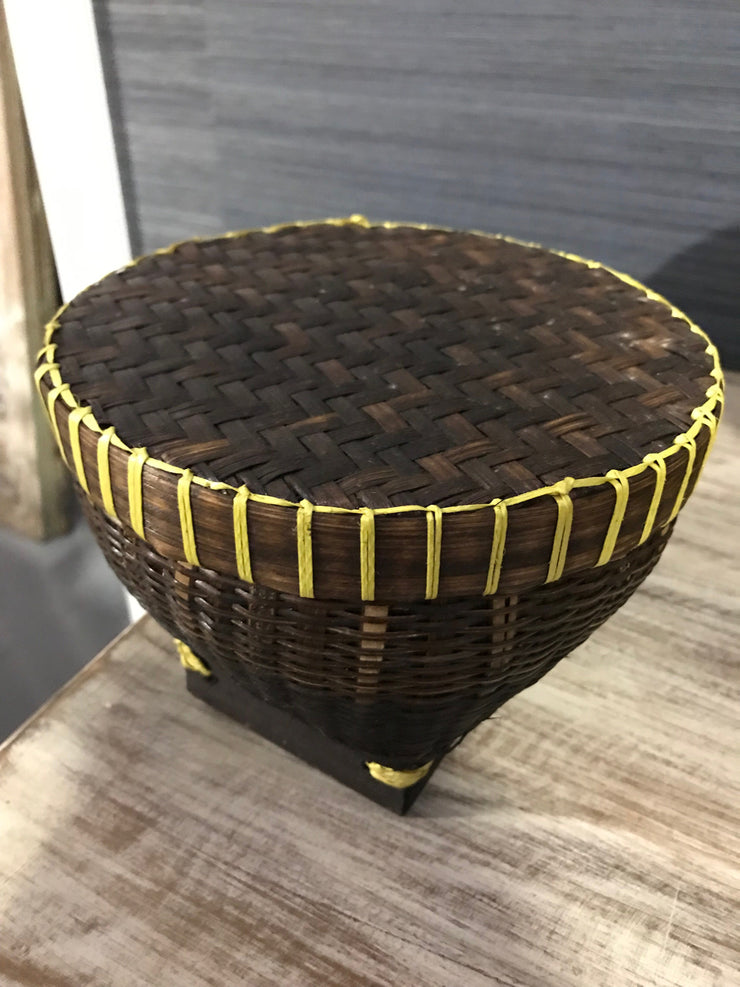 Natural Bamboo Fiber Woven Drum - Small Size from Three Piece Set