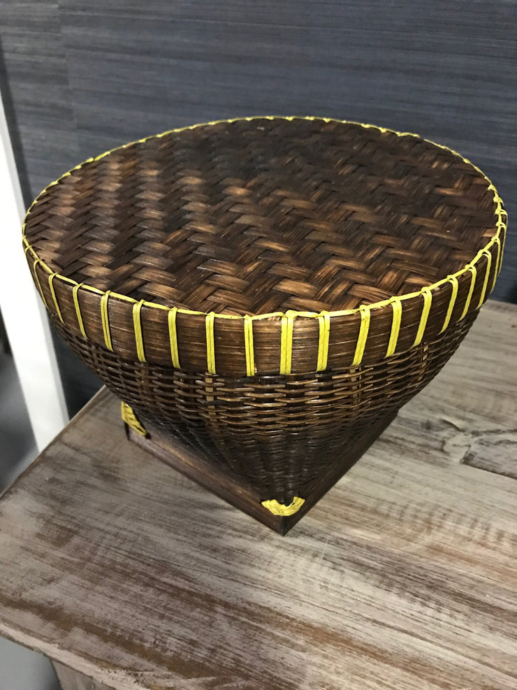 Natural Bamboo Fiber Woven Drum - Large Size from Three Piece Set