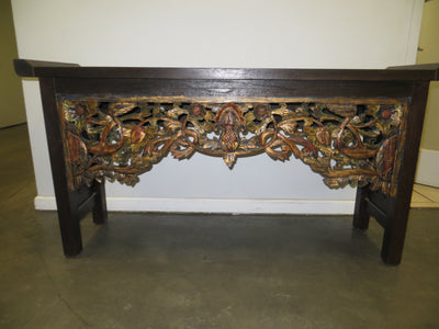 Dark Colored Wooden Console Table