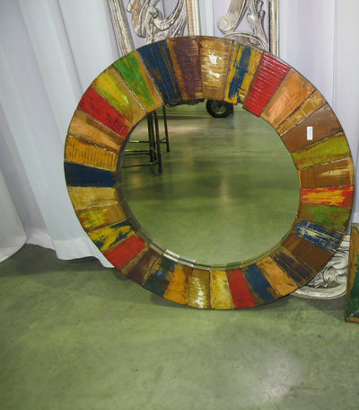 Colorful Circular Mirror