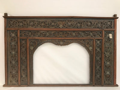 Large Headboard with Hand Carving