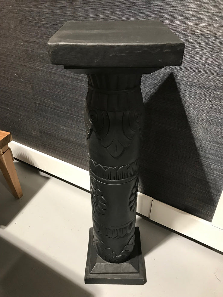 Black Wooden Pedestal