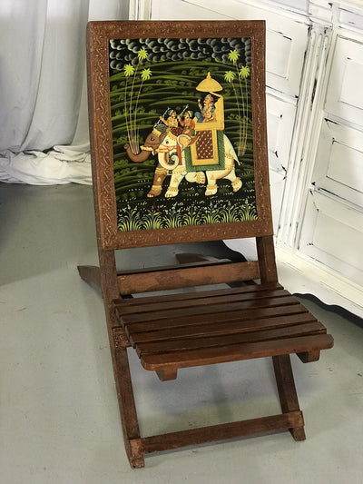 Colorful Painted Wooden Chair