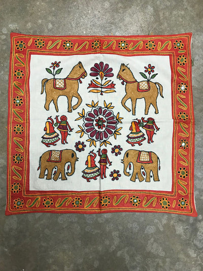 Indian Tapestry with Red Border