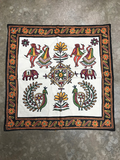 Indian Tapestry with Black Border