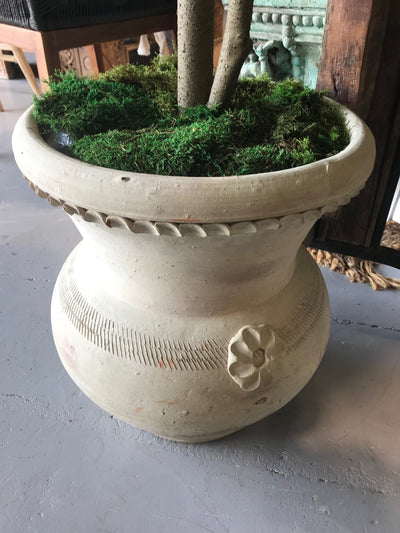 Clay Pot with Carving