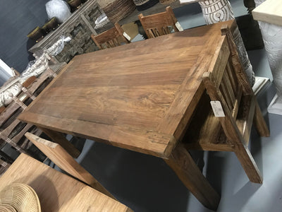 Small Dark Colored Wooden Dining Table