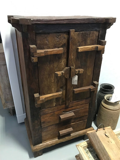 Wooden Cabinet with Two Drawers and Two Doors