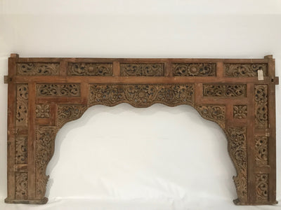 Wooden Headboard with Hand Carving