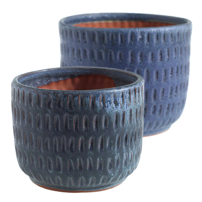 "Demi Pot - 6"" x 4.75"" Blue"