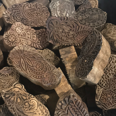 Indian Wooden Printing Block