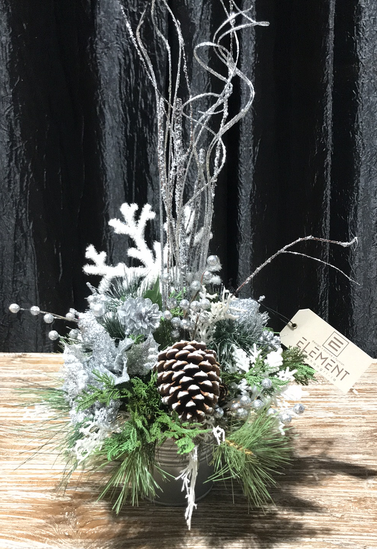 White & Silver Holiday Arrangement
