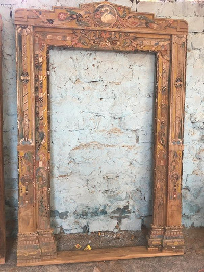 Tall Mirror with Wooden Frame