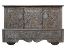 Wooden Sideboard with Carving