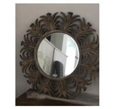 Mirror with Wooden Decorative Border