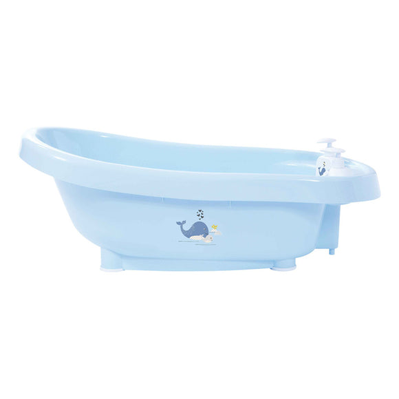 Bath with built-in thermometer BebeJou SET with Bath stand Wally Whale
