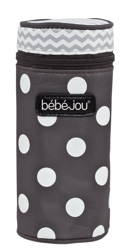 Bottle Insulation Grey Dots BebeJou