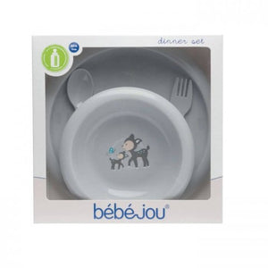 Set food BebeJou (4 pcs.) Forest Friends-Utensils-mamacita-cy.com-krevatakia-brefika-kypros-domatio-koynia-karkoloua