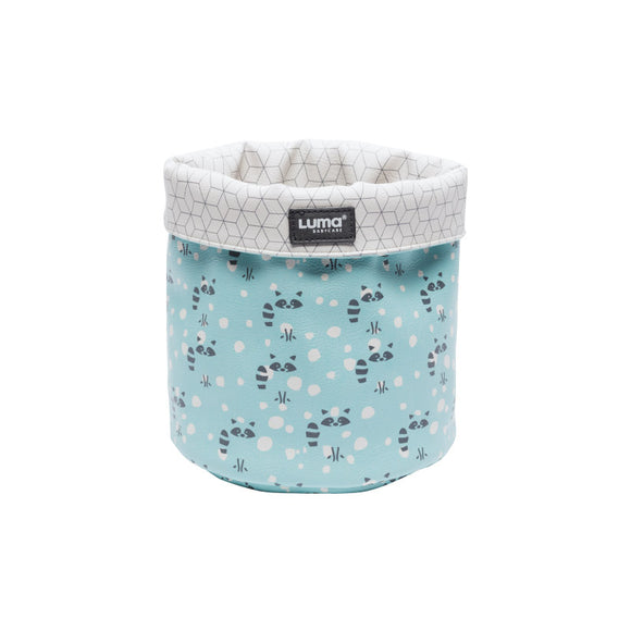 Nursery basket Luma Racoon Mint