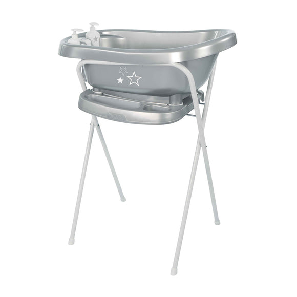 Bath with built-in thermometer BebeJou SET with Bath stand Silver-stars