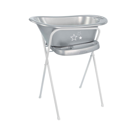 Baby Bath BebeJou SET with bath stand Silver Stars