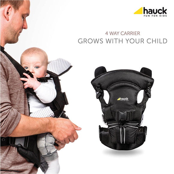 4 Way Carrier Black Hauck