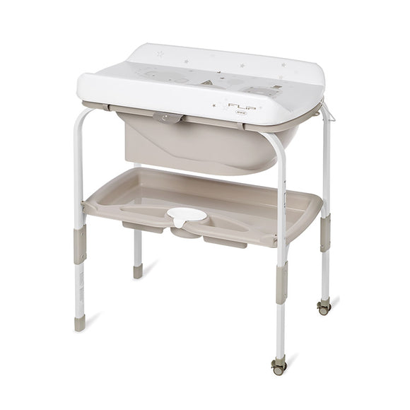 Jane Flip Foldable bath and changing unit Granola