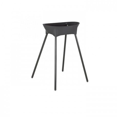 Metal Bath stand Dark Grey 78cm Luma