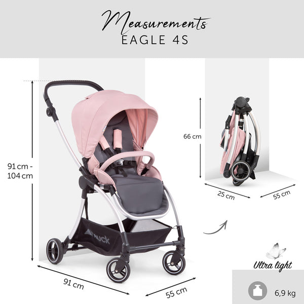 City Stroller Hauck Eagle 4S Pink grey