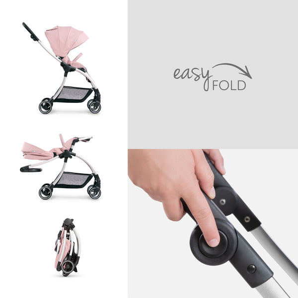 Stroller set 2 in 1 Hauck Eagle 4S Duoset Pink Grey
