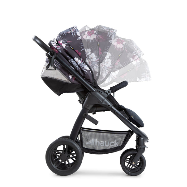 Stroller set 2 in 1 Saturn R Duo set Hauck Wild Blooms black