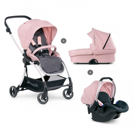 Stroller set 3 in 1 Hauck Eagle 4S Pink Grey